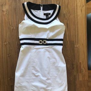 White House Black Market shoulder less midi dress